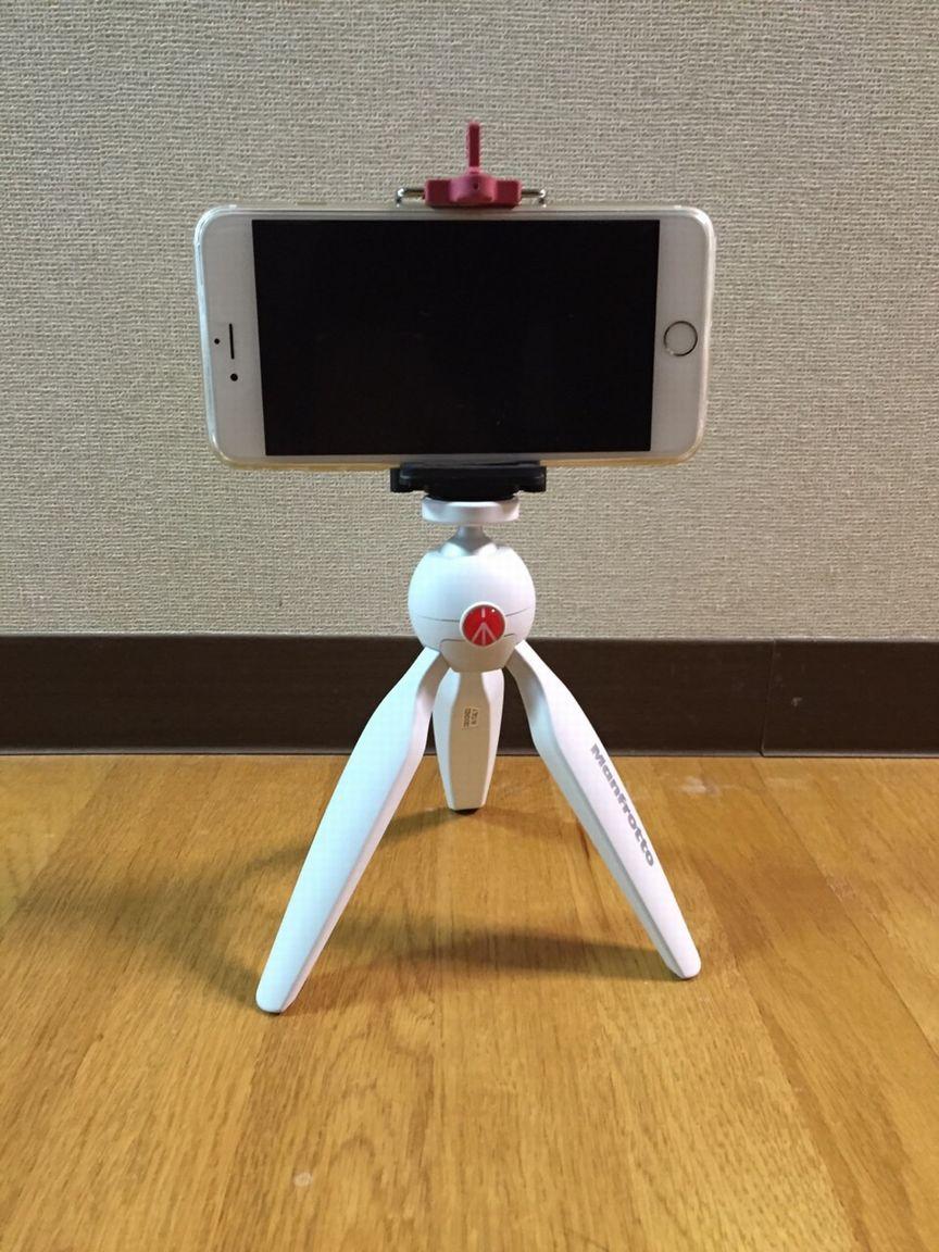 撮影の為にiPhoneを固定する。iPhone用三脚ホルダー&スタンド比較。