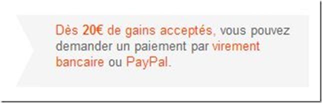 iGraalは20ユーロ以上で振込