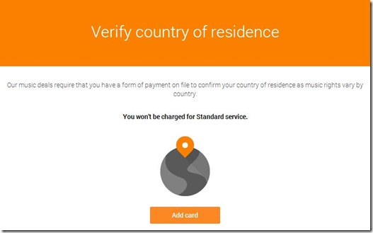 Verify country of residence