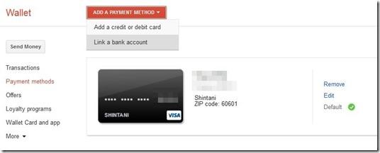 Google Walletでクレジットカード情報の追加