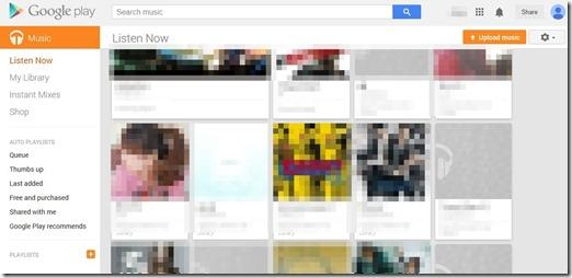 Google Play Musicでストリーミング再生