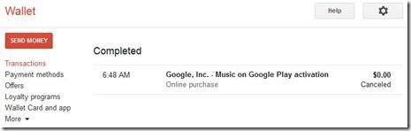 Google Walletのアクティベーション決済