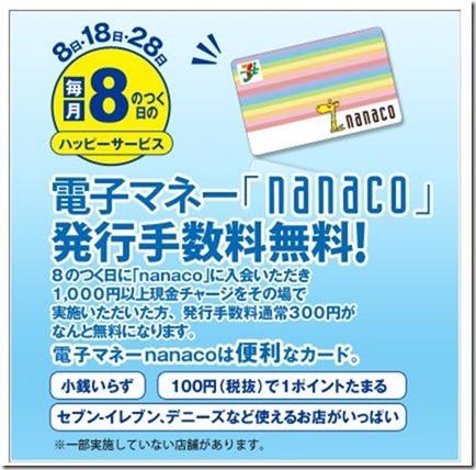 nanacoと8の日ハッピーデー