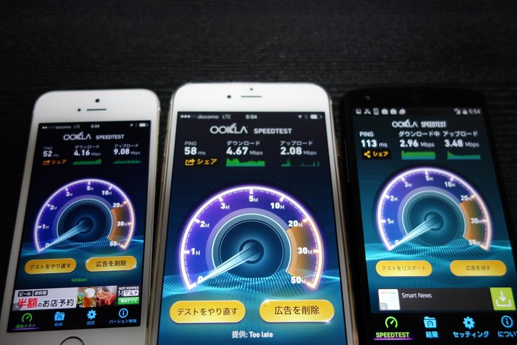 MVNO格安SIMと大手携帯キャリアの通信速度を比較。